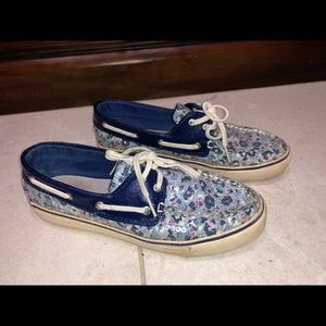SPERRY blue flowers shoes